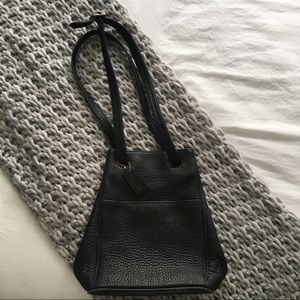 Vintage couch diamond shaped bag with long handle